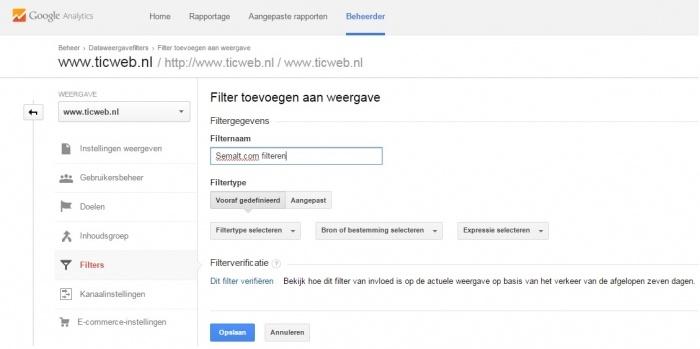 Spam filteren uit Google analytics