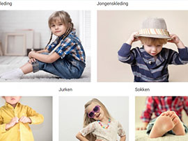 Schermafbeelding van de site van Hippe Kip Kinderkleding