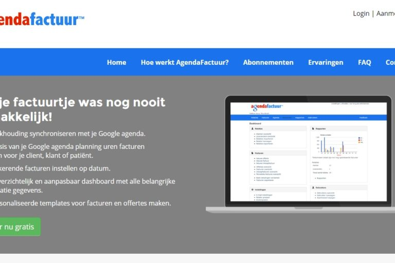 Agenda factuur boekhoud website