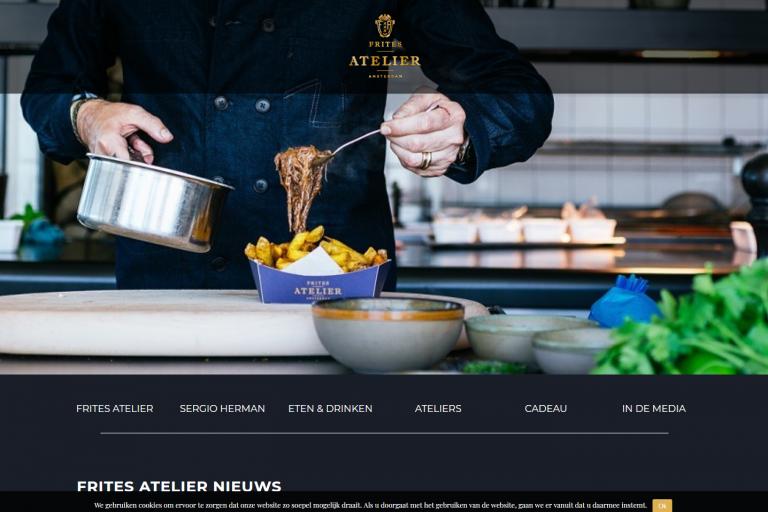 website Frites Atelier Amsterdam